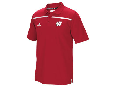 Wisconsin Badgers adidas NCAA Men's Sideline Coaches Polo Shirt