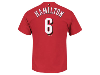 Cincinnati Reds Billy Hamilton Majestic MLB Men's Official Player T-Shirt