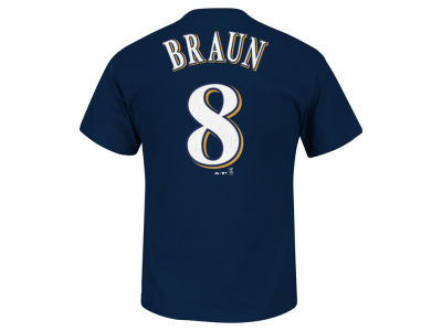 Milwaukee Brewers Ryan Braun Majestic MLB Men's Official Player T-Shirt