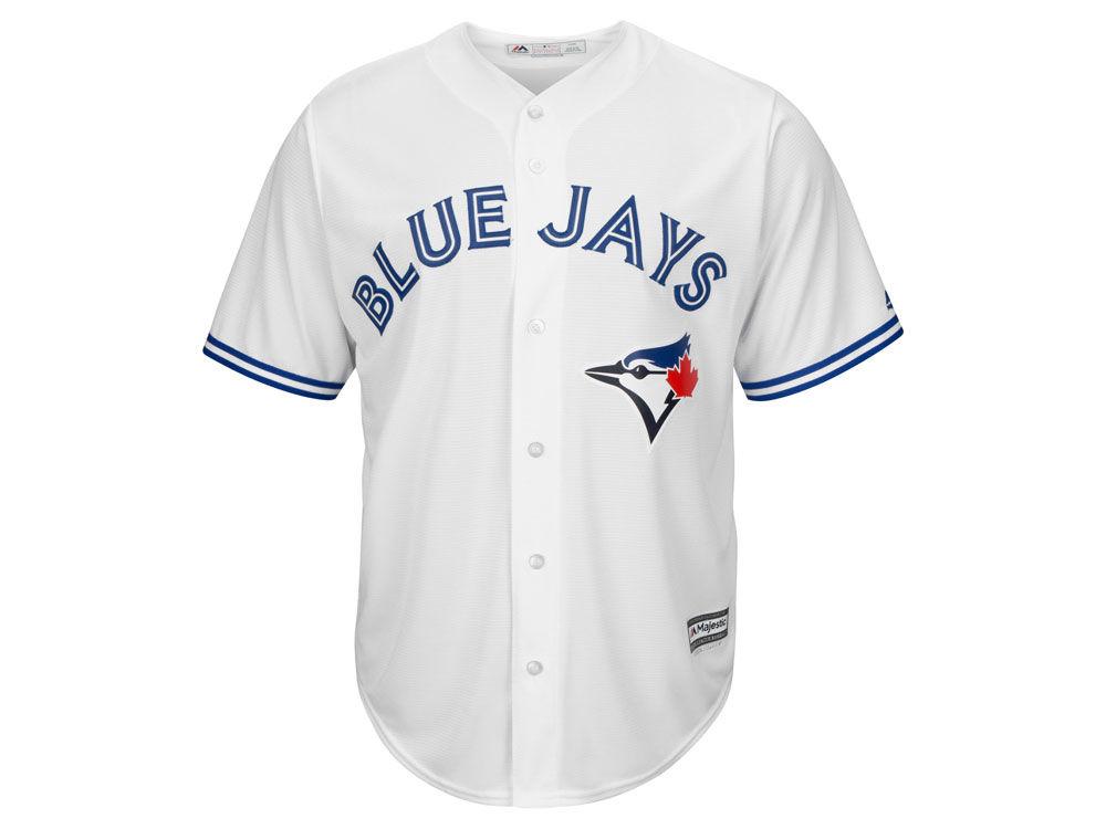 331cec977 Toronto Blue Jays Majestic MLB Men s Blank Replica Cool Base Jersey ...