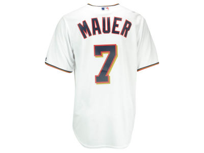 Minnesota Twins Joe Mauer Majestic MLB Men's Player Replica Cool Base Jersey