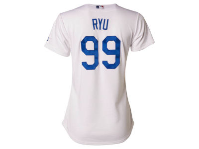 Los Angeles Dodgers Hyun-jin Ryu Majestic MLB Women's Cool Base Player Replica Jersey