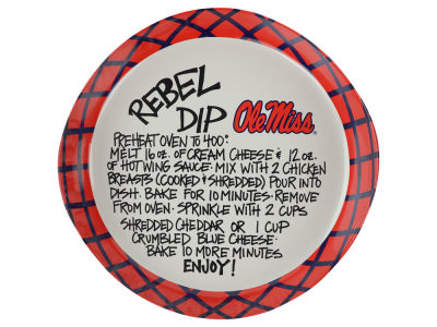 Ole Miss Rebels Dip Recipe Plate