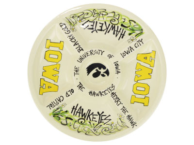 Iowa Hawkeyes Divided Veggie Platter