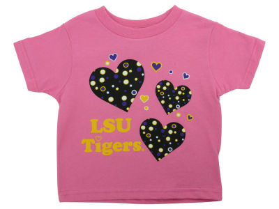 LSU Tigers Atlanta Hosiery NCAA Toddler Heart T-Shirt