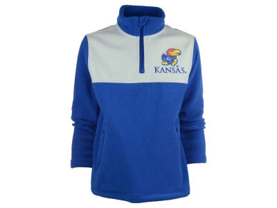 Kansas Jayhawks NCAA Youth Polar Half Zip Fleece Jacket