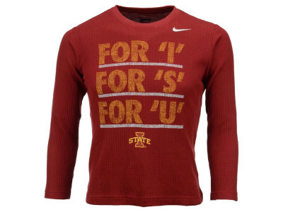 Iowa State Cyclones Nike NCAA Youth Long Sleeve Thermal Shirt