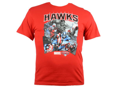 Atlanta Hawks NBA Men's Comic Shatter T-Shirt