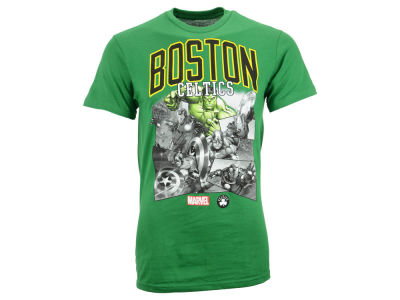 Boston Celtics NBA Men's Comic Shatter T-Shirt