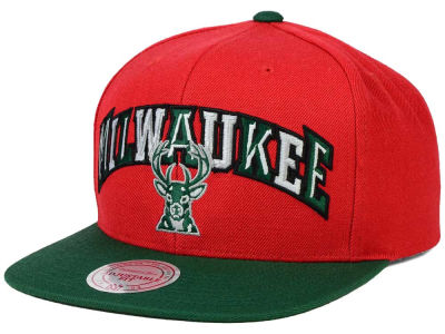 Milwaukee Bucks Mitchell and Ness NBA Big Poppin Snapback Cap