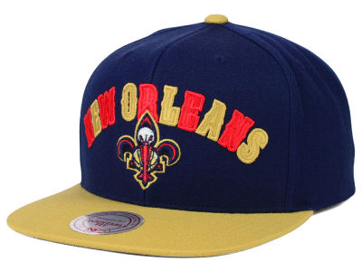 New Orleans Pelicans Mitchell and Ness NBA Big Poppin Snapback Cap