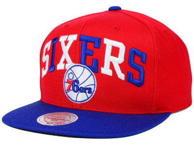 Philadelphia 76ers Mitchell and Ness NBA Big Poppin Snapback Cap