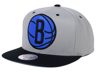 Brooklyn Nets Mitchell and Ness NBA Reflective XL Logo Snapback Cap