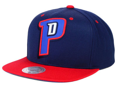 Detroit Pistons Mitchell and Ness NBA Reflective XL Logo Snapback Cap
