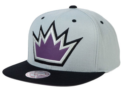 Sacramento Kings Mitchell and Ness NBA Reflective XL Logo Snapback Cap