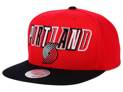 Portland Trail Blazers Mitchell and Ness NBA Big Poppin Snapback Cap