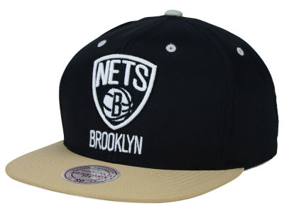 Brooklyn Nets Mitchell and Ness NBA Butter'd 2 Tone Strapback Cap