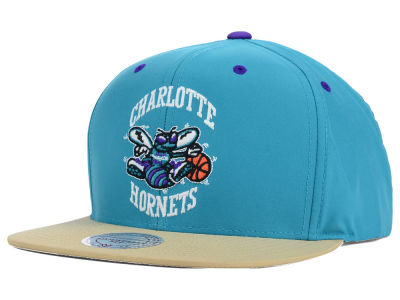 Charlotte Hornets Mitchell and Ness NBA Butter'd 2 Tone Strapback Cap