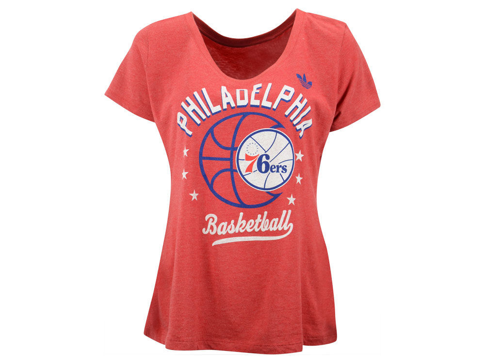 Philadelphia 76ers adidas NBA Women s Basketball Scoop T-Shirt ... 5155076a4