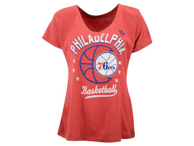 Philadelphia 76ers adidas NBA Women's Basketball Scoop T-Shirt
