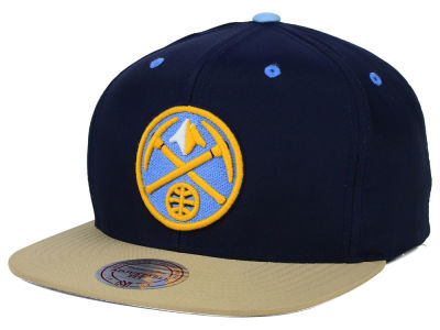Denver Nuggets Mitchell and Ness NBA Butter'd 2 Tone Strapback Cap