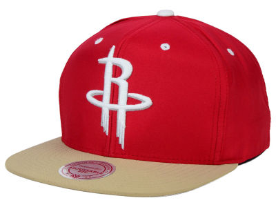 Houston Rockets Mitchell and Ness NBA Butter'd 2 Tone Strapback Cap