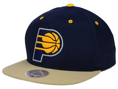 Indiana Pacers Mitchell and Ness NBA Butter'd 2 Tone Strapback Cap