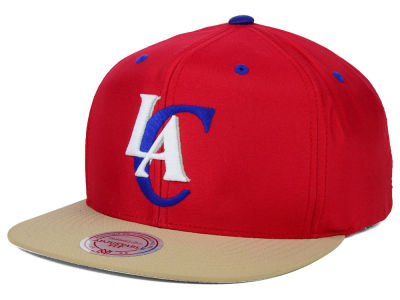 Los Angeles Clippers Mitchell and Ness NBA Butter'd 2 Tone Strapback Cap