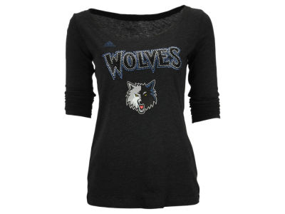Minnesota Timberwolves adidas NBA Women's Rhinetone Long Sleeve T-Shirt