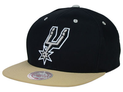 San Antonio Spurs Mitchell and Ness NBA Butter'd 2 Tone Strapback Cap
