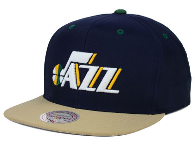 Utah Jazz Mitchell and Ness NBA Butter'd 2 Tone Strapback Cap