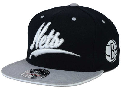 Brooklyn Nets Mitchell and Ness NBA Scripture Fitted Cap