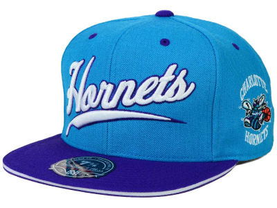 Charlotte Hornets Mitchell and Ness NBA Scripture Fitted Cap