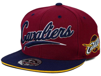 Cleveland Cavaliers Mitchell and Ness NBA Scripture Fitted Cap