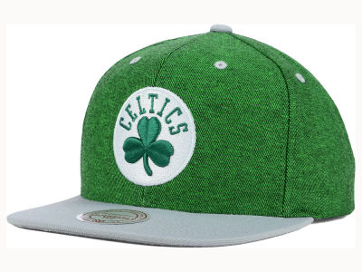 Boston Celtics Mitchell and Ness NBA Denim Harry Snapback Cap