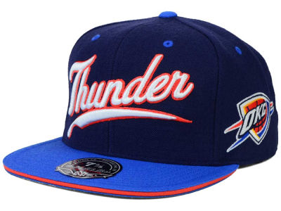 Oklahoma City Thunder Mitchell and Ness NBA Scripture Fitted Cap
