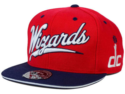 Washington Wizards Mitchell and Ness NBA Scripture Fitted Cap