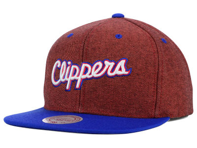 Los Angeles Clippers Mitchell and Ness NBA Denim Harry Snapback Cap