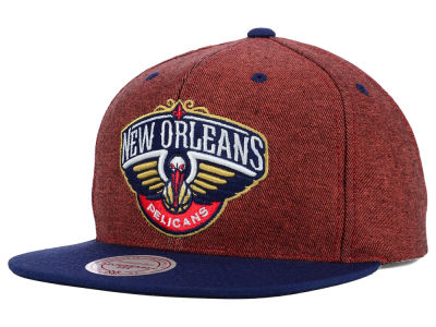 New Orleans Pelicans Mitchell and Ness NBA Denim Harry Snapback Cap