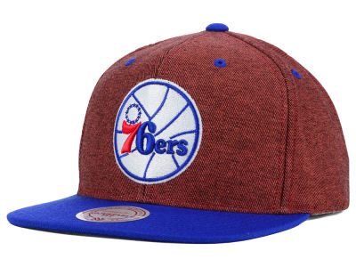 Philadelphia 76ers Mitchell and Ness NBA Denim Harry Snapback Cap