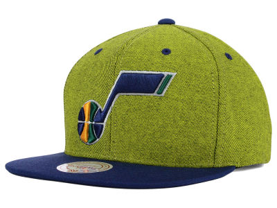 Utah Jazz Mitchell and Ness NBA Denim Harry Snapback Cap