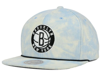 Brooklyn Nets Mitchell and Ness NBA Light Acid Snapback Cap