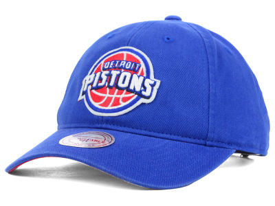 Detroit Pistons Mitchell and Ness NBA Felt Logo Fanback Cap