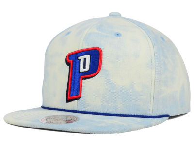 Detroit Pistons Mitchell and Ness NBA Light Acid Snapback Cap