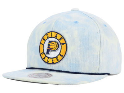 Indiana Pacers Mitchell and Ness NBA Light Acid Snapback Cap