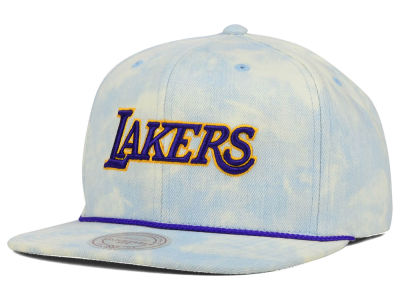 Los Angeles Lakers Mitchell and Ness NBA Light Acid Snapback Cap
