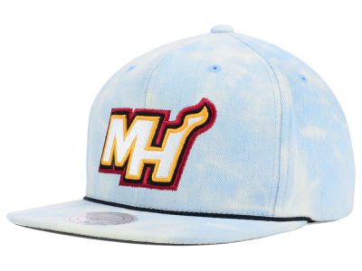 Miami Heat Mitchell and Ness NBA Light Acid Snapback Cap