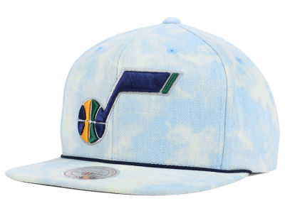 Utah Jazz Mitchell and Ness NBA Light Acid Snapback Cap