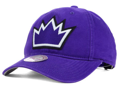 Sacramento Kings Mitchell and Ness NBA Felt Logo Fanback Cap