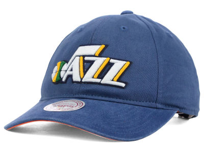 Utah Jazz Mitchell and Ness NBA Felt Logo Fanback Cap